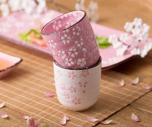 cherry blossom, cups, and home decor image