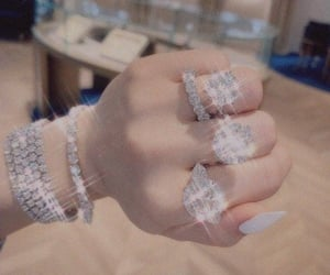 diamond ring, sparkles, and jewelry image
