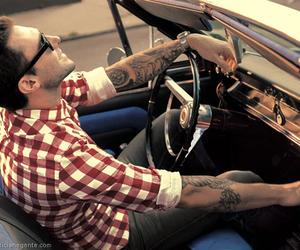 adam levine, car, and tattoo image