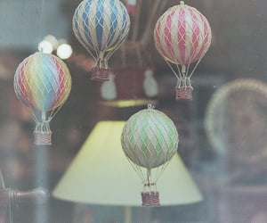 color, hot air balloons, and interior image