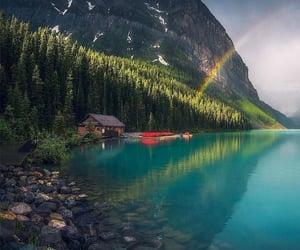 nature, rainbow, and Alberta image