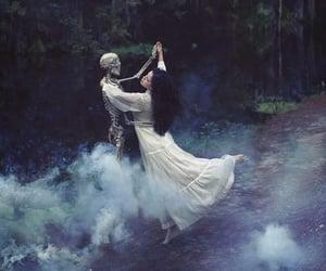 dance, skeleton, and dark image