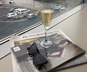 champagne, vogue, and drink image