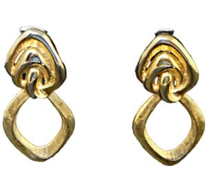 1980s, big, and gold earrings image