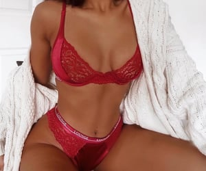red, body, and lace image