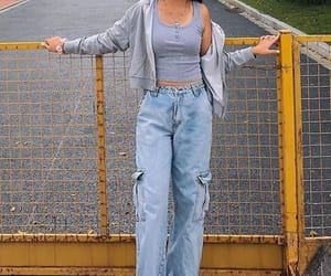 baggy, blue, and clothes image