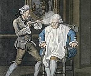 18th century, powdered wig, and 18th century powdered wig image