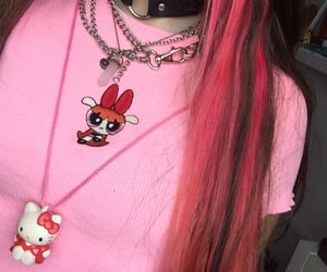 chains, cyber, and hair image