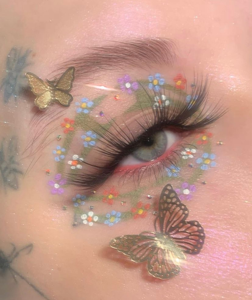 aesthetic, cosmetics, and butterfly image