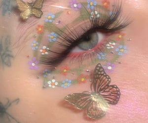 aesthetic, eyeshadow, and sparkles image
