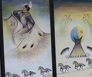 art, dancing, and mural image