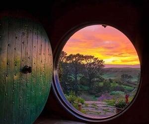 door, hobbit, and nature image