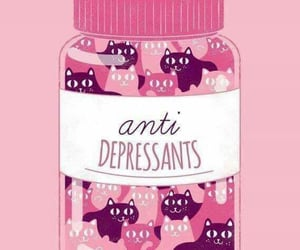 cat, pink, and antidepressants image