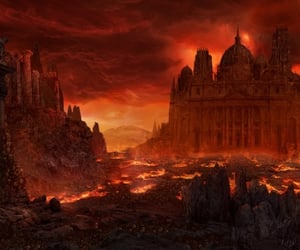 hell and heaven image