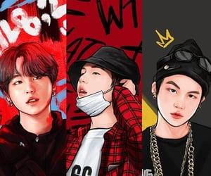 headers, yoongi, and kpop image