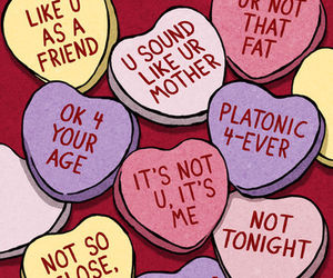 valentine, funny, and hearts image
