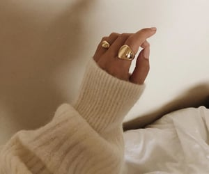 bed, beige, and gold image