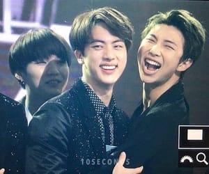 jin, kpop couple, and kim namjoon image