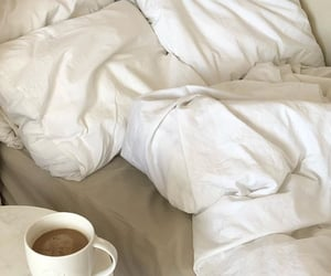 coffee, bed, and beige image