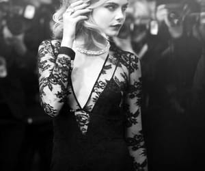 black and white, premiere, and cara delevingne image