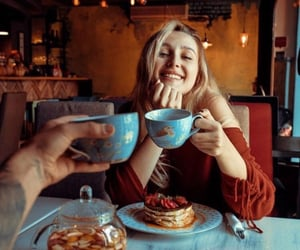 cafe, drink, and girl image