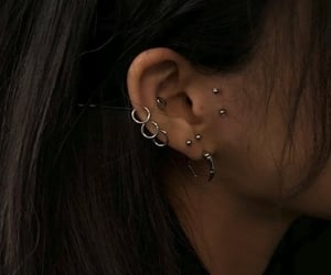 piercing, aesthetic, and black image
