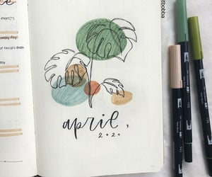 april, leaves, and bullet journal image