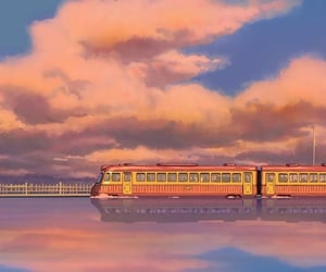 anime, wallpaper, and train image