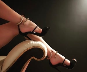 aesthetic, high heels, and snake image