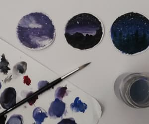 art, blue, and paint image