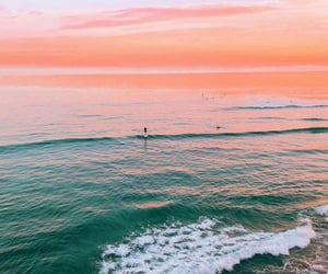 summer, sunset, and ocean image