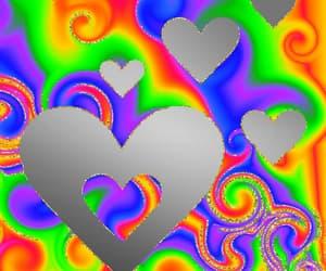 gif, rainbow, and kid core image