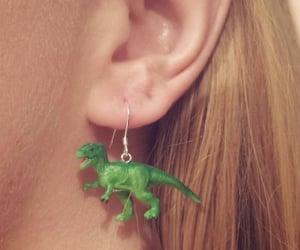 dinosaur, earrings, and diy image