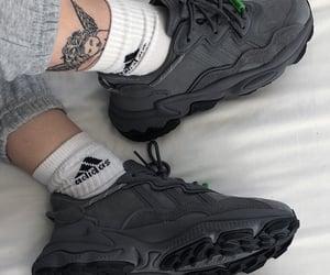 adidas, dark grey, and shoes image