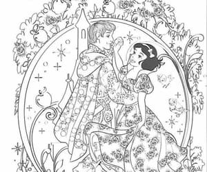 coloring, snowhite, and disney image