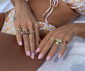 bathing suit, hands, and nails image
