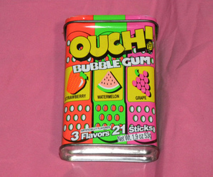 gum, ouch, and bubble gum image