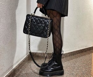 fashion, chanel, and dr martens boots image