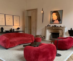home, interior, and red image