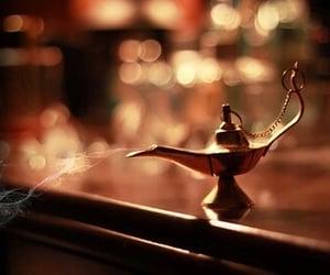 aladdin, lamp, and smoke image