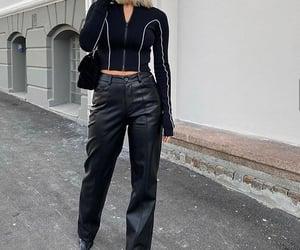 short hair, street style, and black bag image