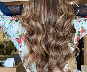 color, hair, and hair style image