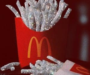 glitter, fries, and McDonalds image