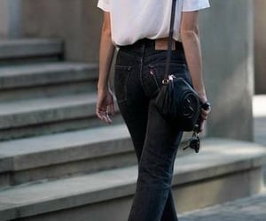 black, outfit, and classic image