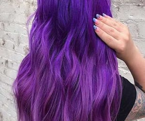 cool, girl, and violet hair image