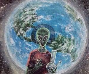 alien, art, and light image