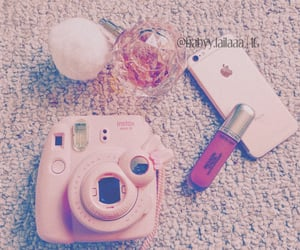 aesthetic, polaroid, and rose gold image