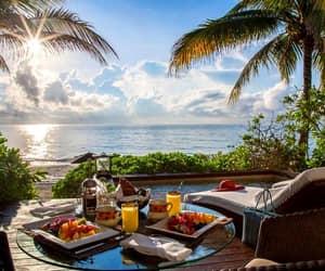 beach, beautiful, and breakfast image