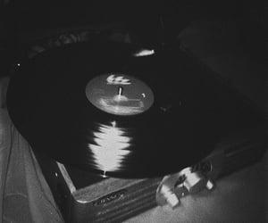 b&w, black, and music image