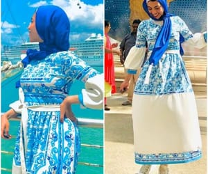 dress, skirt, and hijabista image